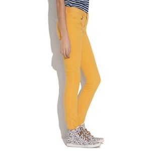 Madewell Yellow Skinny Skinny Ankle Cropped Jeans